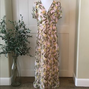 Skies Are Blue Pink/Green Maxi Dress